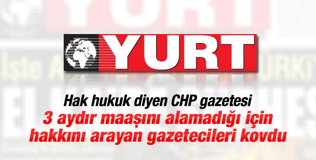 Yurt Gazetesi 5 gazeteciyi kovdu