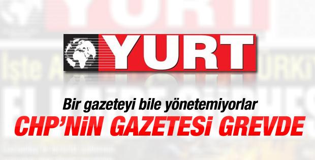 Maaşlarını alamayan Yurt Gazetesi çalışanları grevde