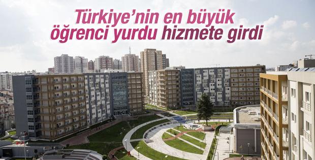 Türkiye'nin en büyük öğrenci yurdu açıldı