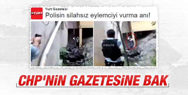 CHP'nin gazetesi teröriste eylemci dedi
