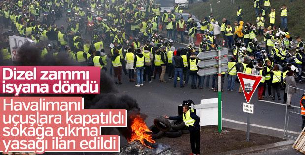 Fransa'daki akaryakıt protestosu isyana dönüştü