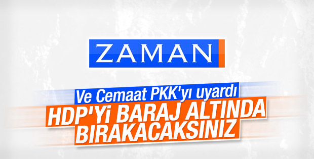 Zaman yazarı Şahin Alpay: HDP'yi ezdirmeyelim