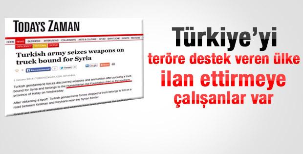 Today's Zaman Türkiye'yi terör destekçisi gibi gösterdi