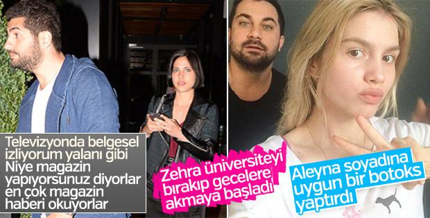 Zehra gecelerde, Aleyna Tilki estetik yaptırdı