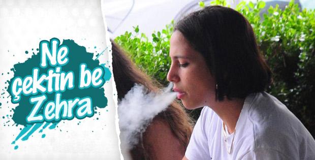 Zehra Çilingiroğlu sigara içerken görüntülendi