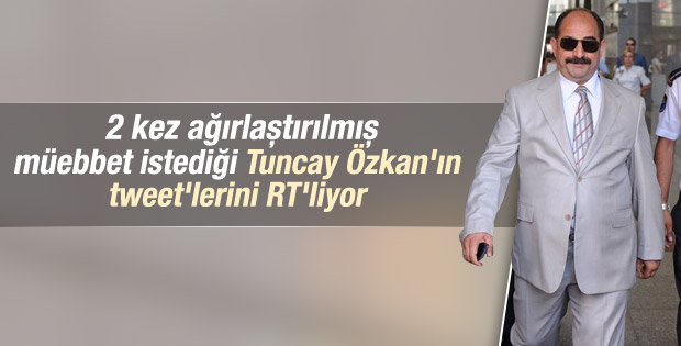 Zekeriya Öz Tuncay Özkan'ın tweet'lerini retweet yaptı