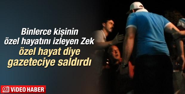 Zekeriya Öz gazetecinin üzerine yürüdü İZLE