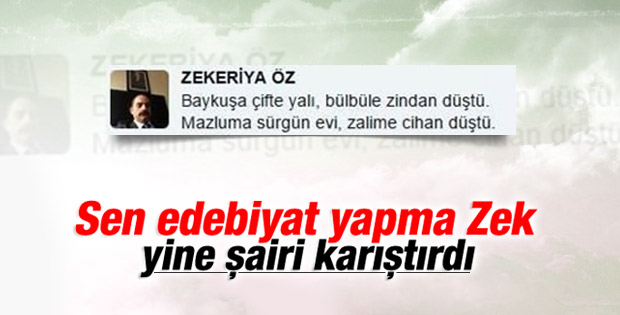 Zekeriya Öz yine yanlış tweet attı