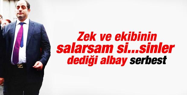 Albay Ahmet Zeki Üçok'a tahliye