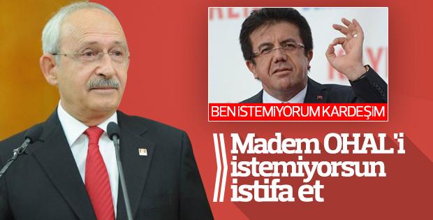 Kemal Kılıçdaroğlu'ndan Bakan Zeybekçi'ye istifa çağrısı