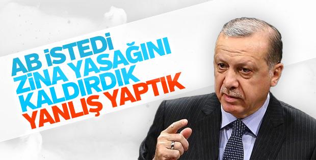 Cumhurbaşkanı Erdoğan: Zina düzenlemesi tartışılsın