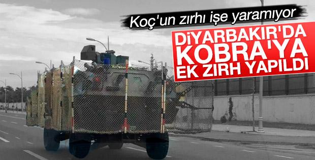 Diyarbakır'da zırhlı araca telli önlem