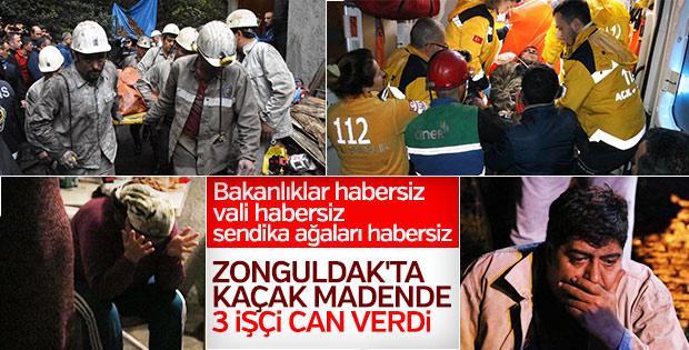 Zonguldak'ta kaçak maden ocağında patlama