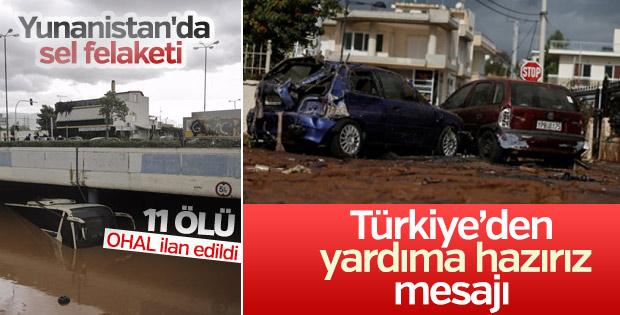 Türkiye Yunanistan'a taziyelerini iletti