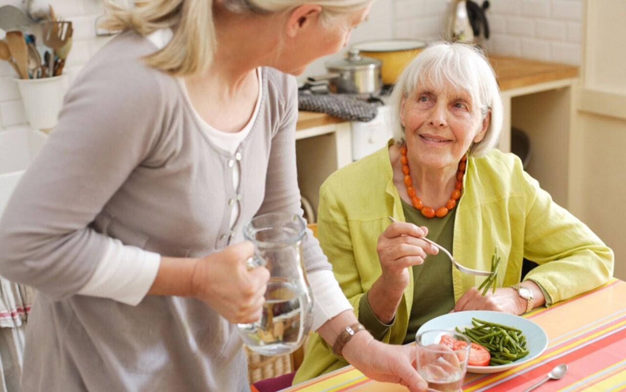 Elderly lady AEM cut