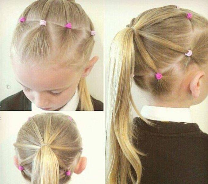 Kız çocukları Için Farklı Saç örgü Modelleri