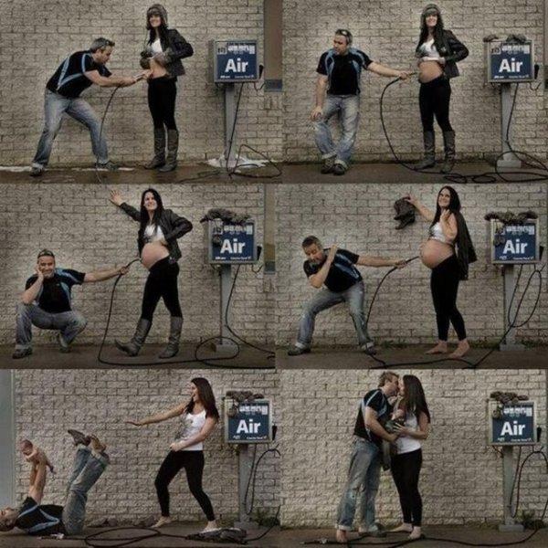 İlginç hamile kadın resimleri - 2. resim