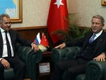 Turkish defense minister meets his Russian counterpart