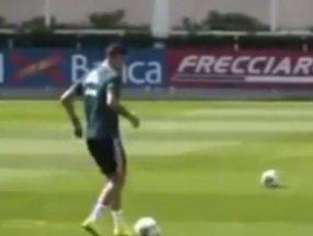 Ronaldo ayakla basket attı