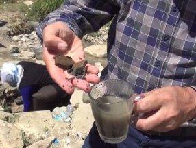 Muş'da böbrek taşına iyi geliyor denilen su incelendi