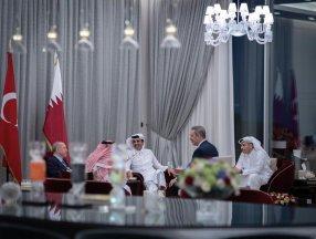 Cumhurbaşkanı Erdoğan ile Katar Emiri'nden samimi pozlar