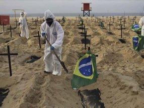 Brezilya'da Kovid-19 nedeniyle ölenlerin sayısı yarım milyonu geçti