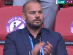 Sneijder son görünümüyle şaşırttı