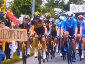 Fransa Bisiklet Turu'nda kazaya neden olan seyirci aranıyor