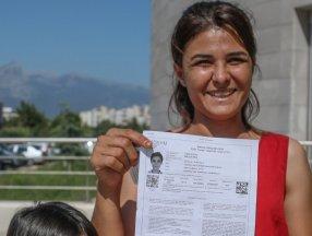 Melek İpek üniversite sınavına girdi