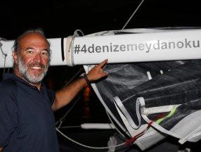 Türkiye'nin dört denizini yelkenliyle aşan Tolga Pamir, 16 günlük zorlu yolculuğunu anlattı