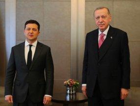 Cumhurbaşkanı Erdoğan, Volodimir Zelenski ile görüştü