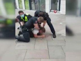Almanya'da 4 polis, bir şahsı dakikalarca yumruklayarak gözaltına aldı
