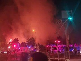 Bahçeşehir'de yangın çıktı