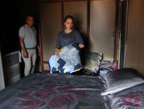 Mersin'de genç kızın çeyizi yangında kül oldu