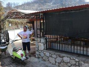 Marmaris'teki yangında evi son anda kurtulan Mesut Akgül: Cehennemden bir önceki evreydi