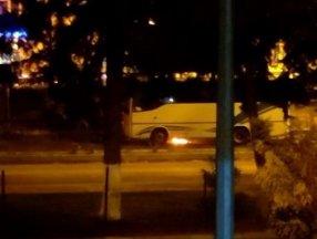 Adıyaman'da otobüs yandı