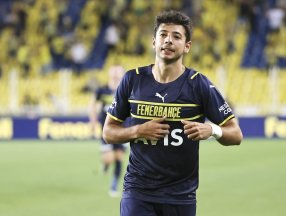 Fenerbahçe'nin golünü atan Muhammed Gümüşkaya sevinirken armayı bulamadı