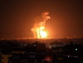 İsrail savaş uçakları, Gazze Şeridi'ni bombaladı