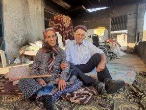 Antalya'daki yangından sonra yaşlı çift yeni evlerine kavuştu