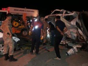 Iğdır'da kaza: 1 ölü, 1 yaralı