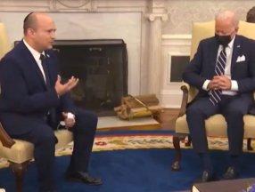 Joe Biden, Naftali Bennett görüşmesinde uyudu