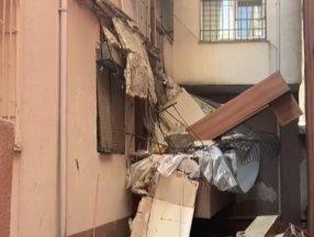 Güngören'de balkon çöktü