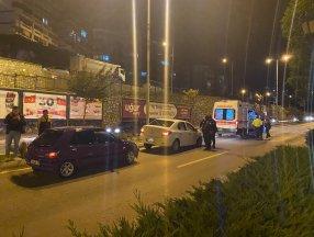Zonguldak'ta köpeğe çarpmamak için otomobile çarptı