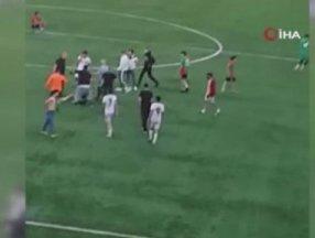 İstanbul'da hazırlık maçında kavga