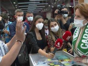 Samsun'da esnaftan Meral Akşener'e Netanyahu tepkisi