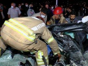 Beykoz'da feci kaza: 3 ölü, 3 yaralı