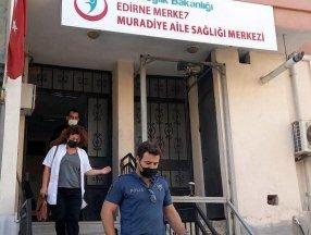 Edirne'de karantinayı ihlal eden adam doktorla tartıştı