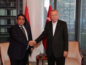 Cumhurbaşkanı Erdoğan, el-Menfi ile görüştü