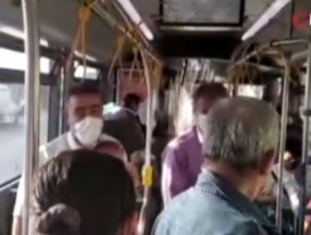İETT otobüsünün gaz pedalı bozuldu, yolcular yolda kaldı