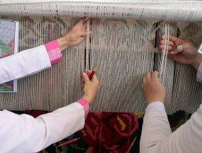Erzurum'da asırlık Bardız kilimi, eski motifleriyle yeniden dokunuyor
